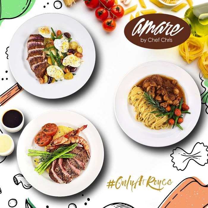 amare_food_various_steak_spaghetti_mushrooms