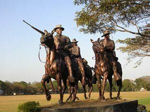 Fort Stotsenberg Statue of Men on Horseback